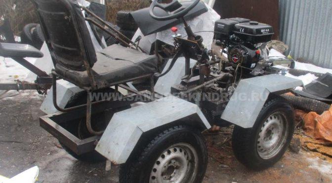 Самодельный минитрактор переломка с двигателем Lifan 6,5 л/с