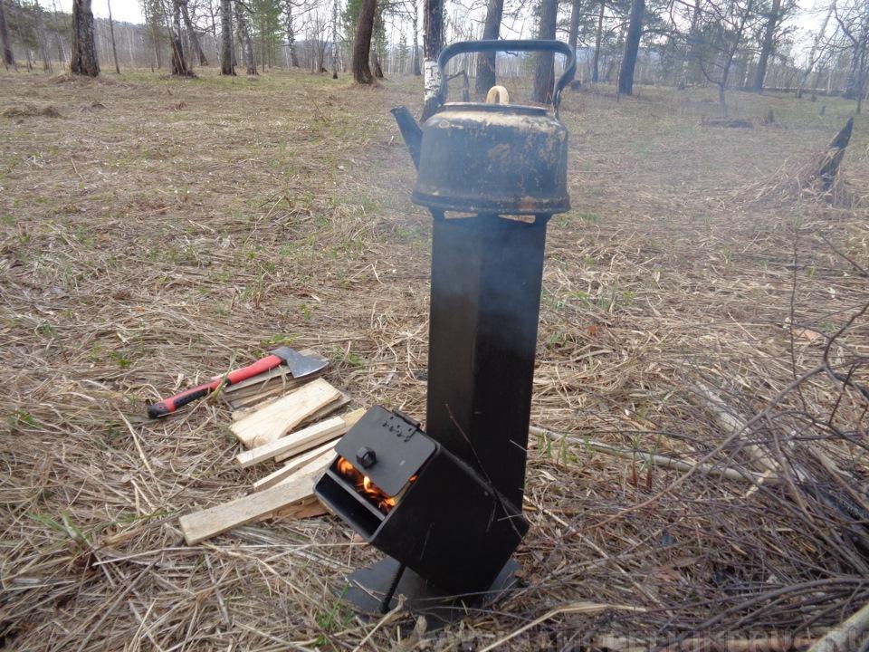 походная печь ракета из металла