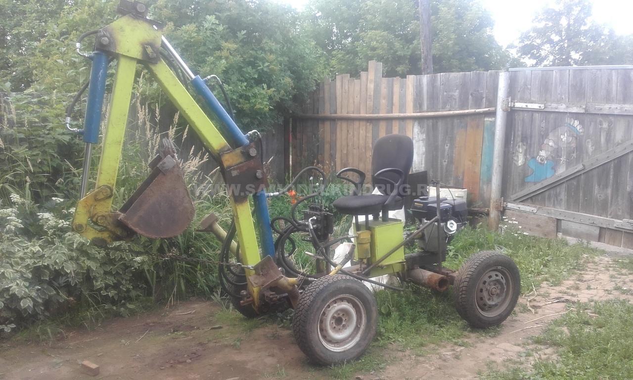 самодельный мини экскаватор с двигателем лифан