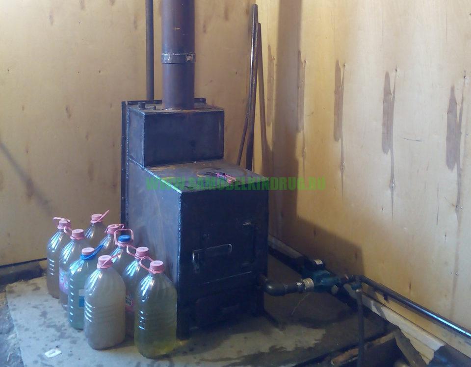 печь для гаража с водяным отоплением