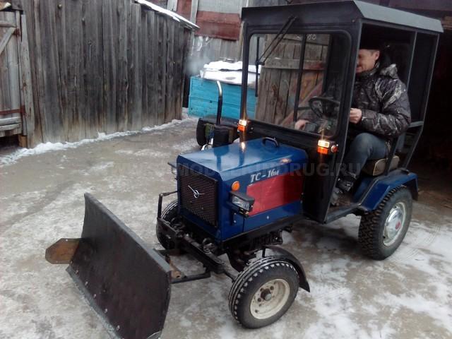 самодельный минитрактор с кабиной и лопатой отвалом