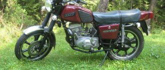 мотоцикл планета-5 на литых дисках