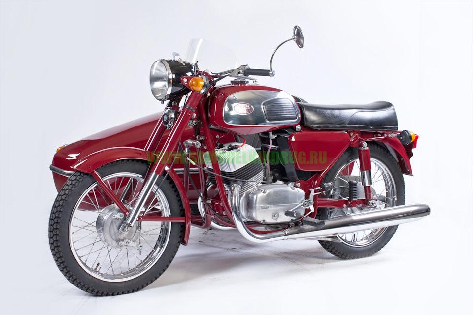 мотоцикл Ява 350 с боковым прицепом Verolex