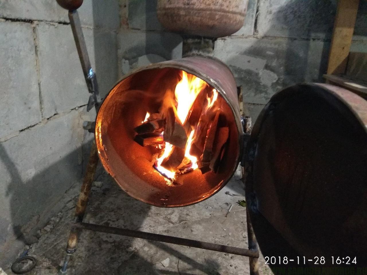 печь буржуйка из газовых баллонов