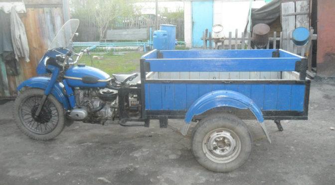 Самодельный грузовой мотоцикл Урал