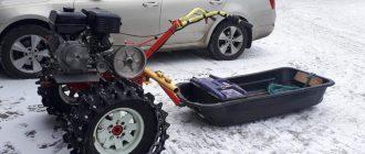 самодельный мотоблок снегоход
