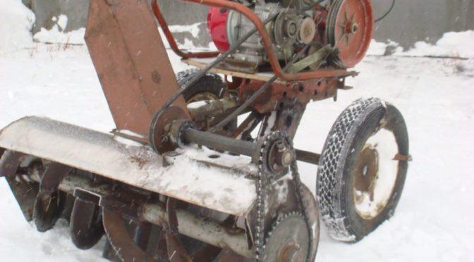 Самодельный снегоуборщик для мотоблока из газового баллона