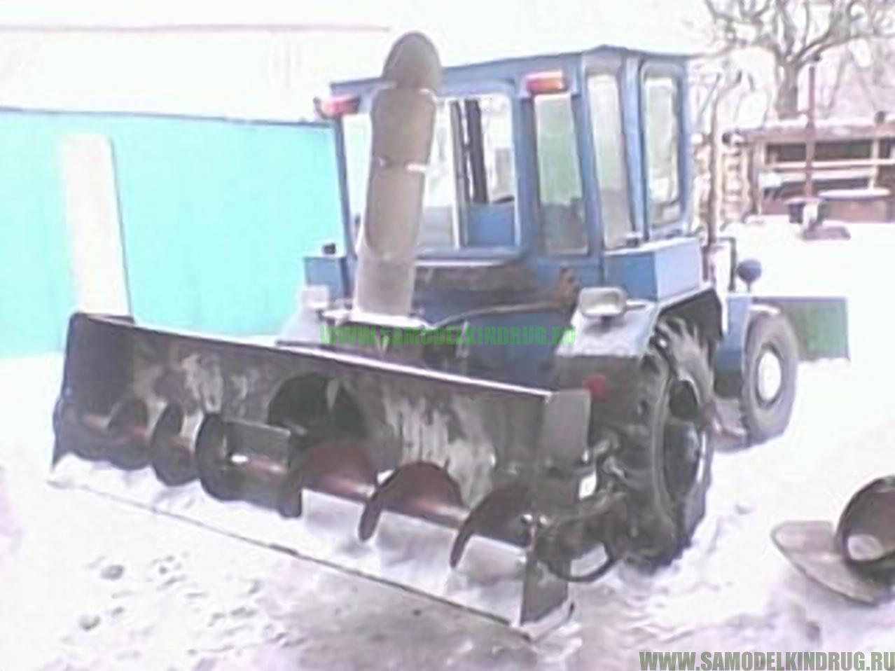 самодельный шнеко-тоторный снегоуборщик