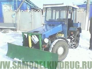 самодельный минитрактор с москвичевским двигателем