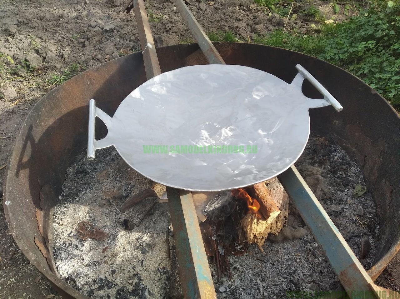 садж самодельная сковорода из диска бороны