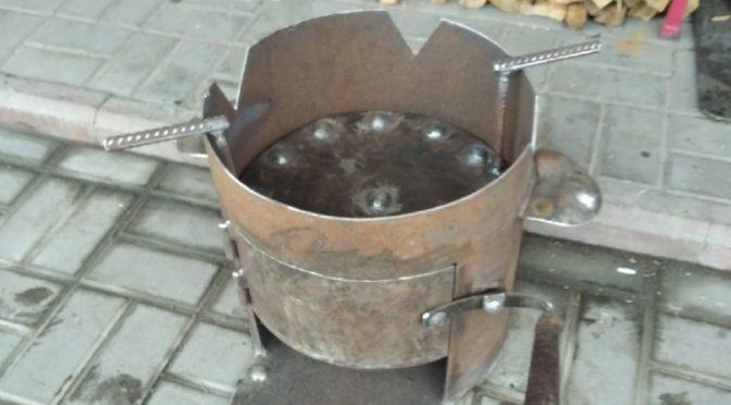 Печь под казан с фальш дном для шашлыка